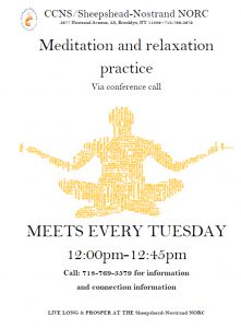 Click on the image to view the event: Meditation and Relaxation Practice